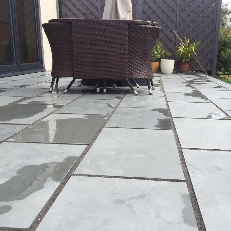 Brazilian grey slate patio
