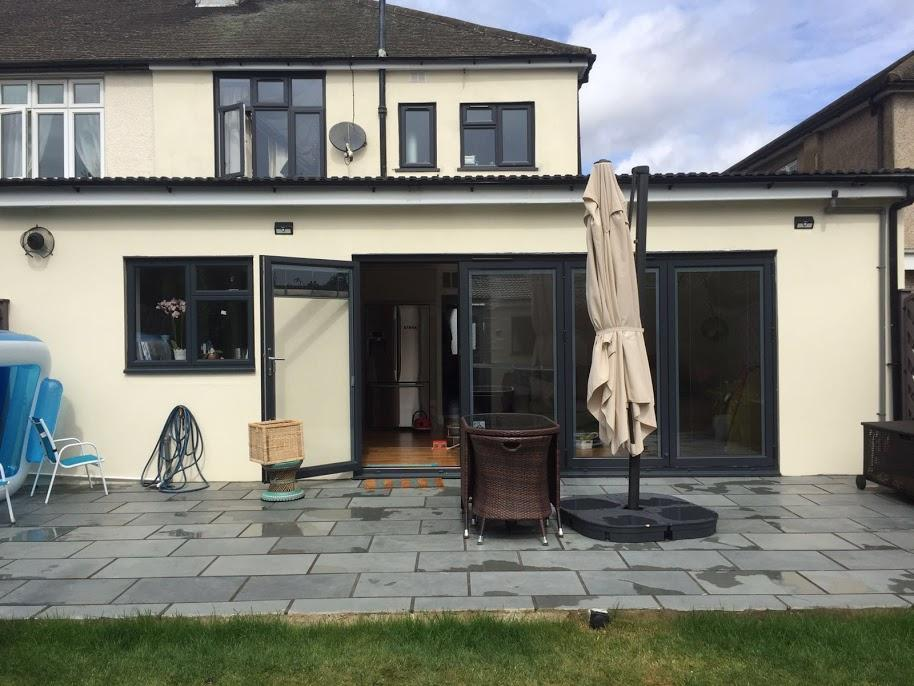 Brazilian grey slate paving