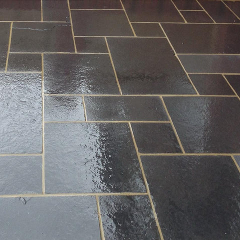 Kadapha black limestone paving