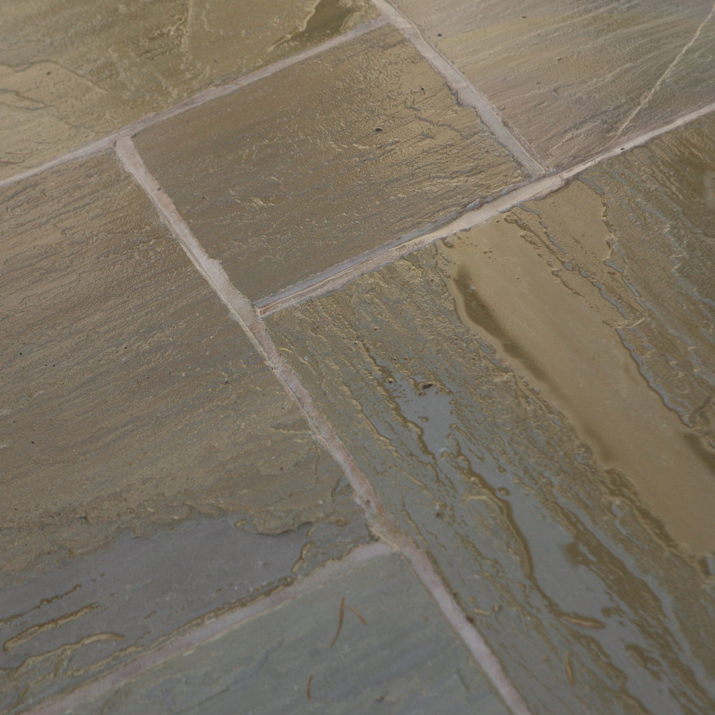 Indian sandstone Raj green patio paving