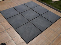 anthracite porcelain paving 600 x 600