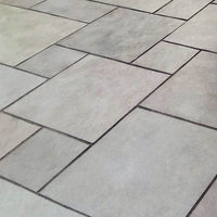dove grey Indian limestone paving