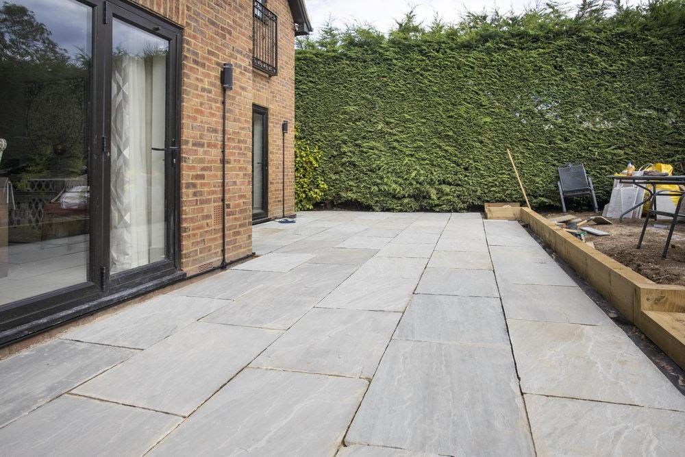 Indian sandstone paving kandla grey