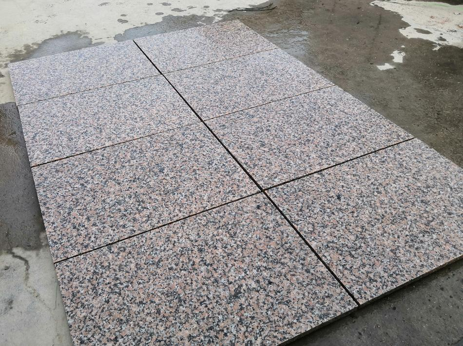 Pink Granite Paving Slabs Maple Red 900x600