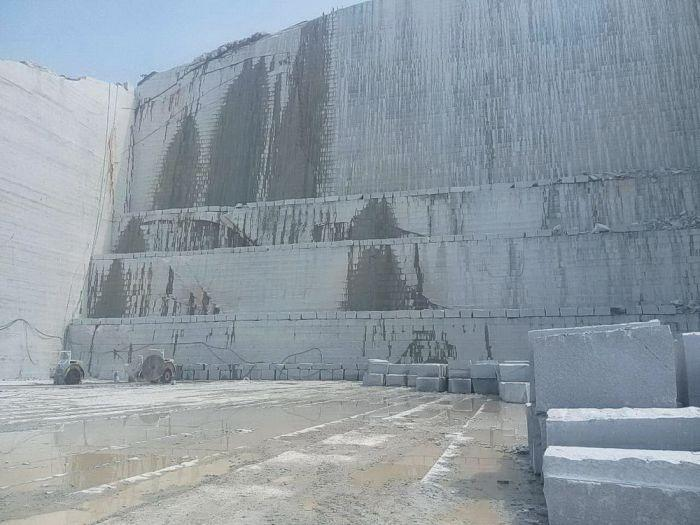 silver grey granite quarry