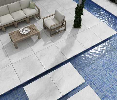 grey porcelain paving 600 x 600