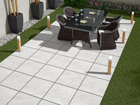 grey porcelian paving patio