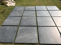 nero black porcelain paving