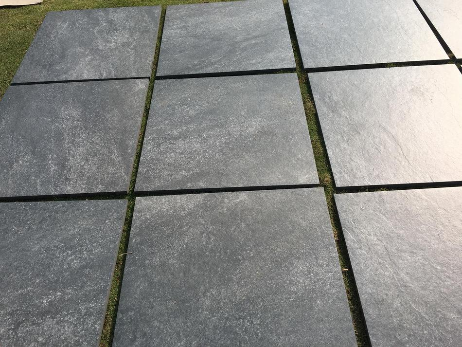 nero black outdoor porcelain paving