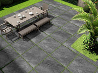 nero porcelain paving