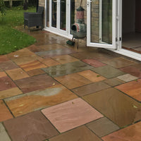 raj blend sandstone paving slabs 560mm sizes