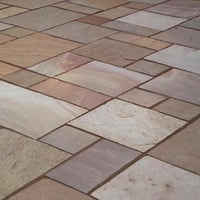 Rippon Buff Indian Sandstone Paving Slabs Patio Packs, 22mm Calibrated