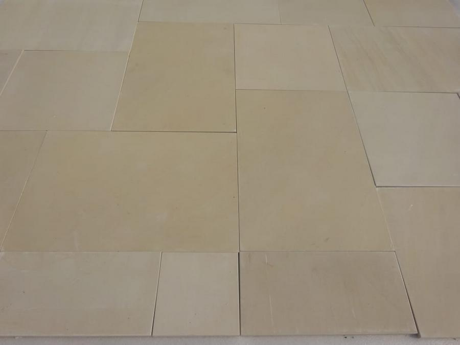 sawn honed smooth sandstone paving patio