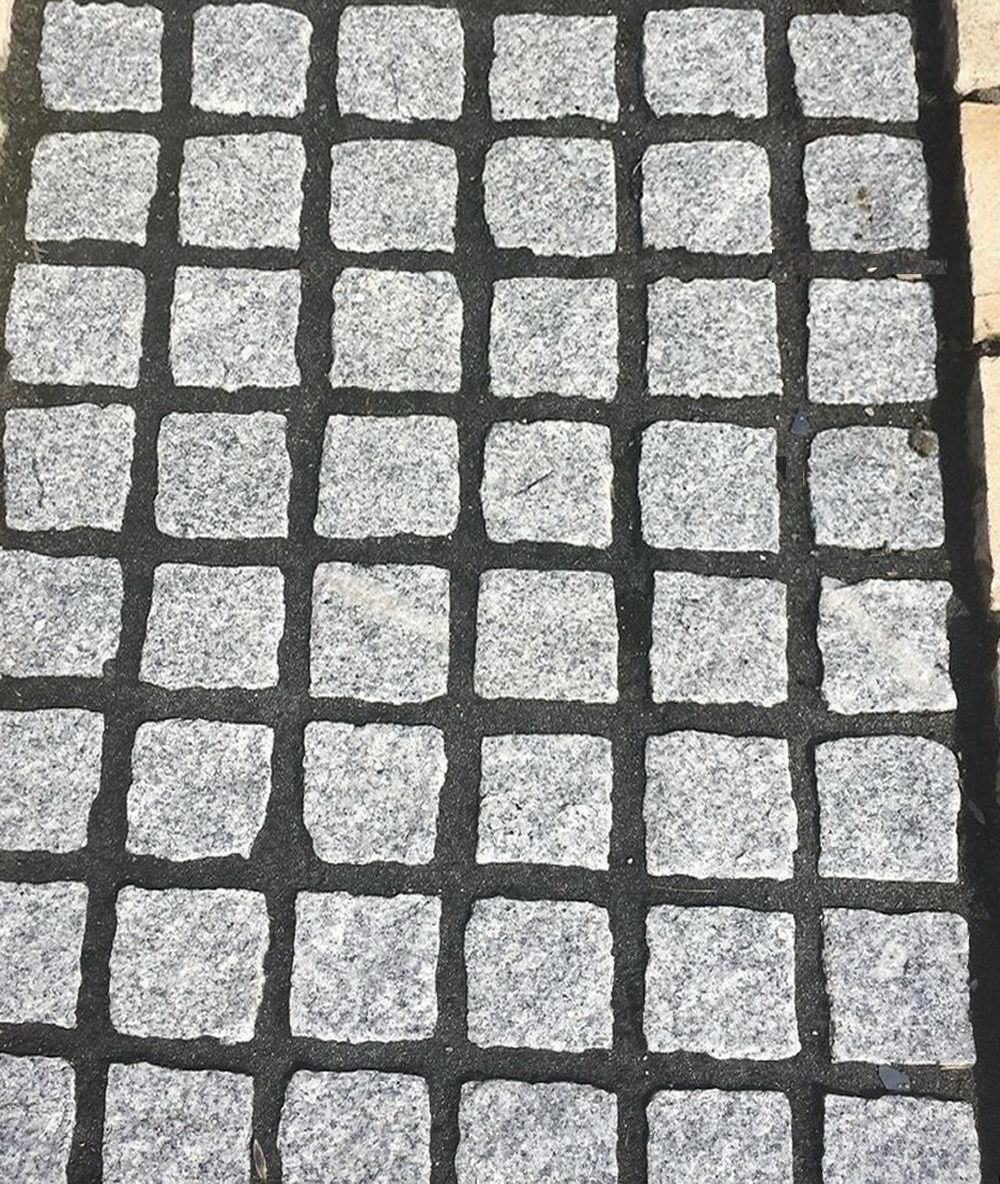 cropped granite setts 100 x 100 x 50