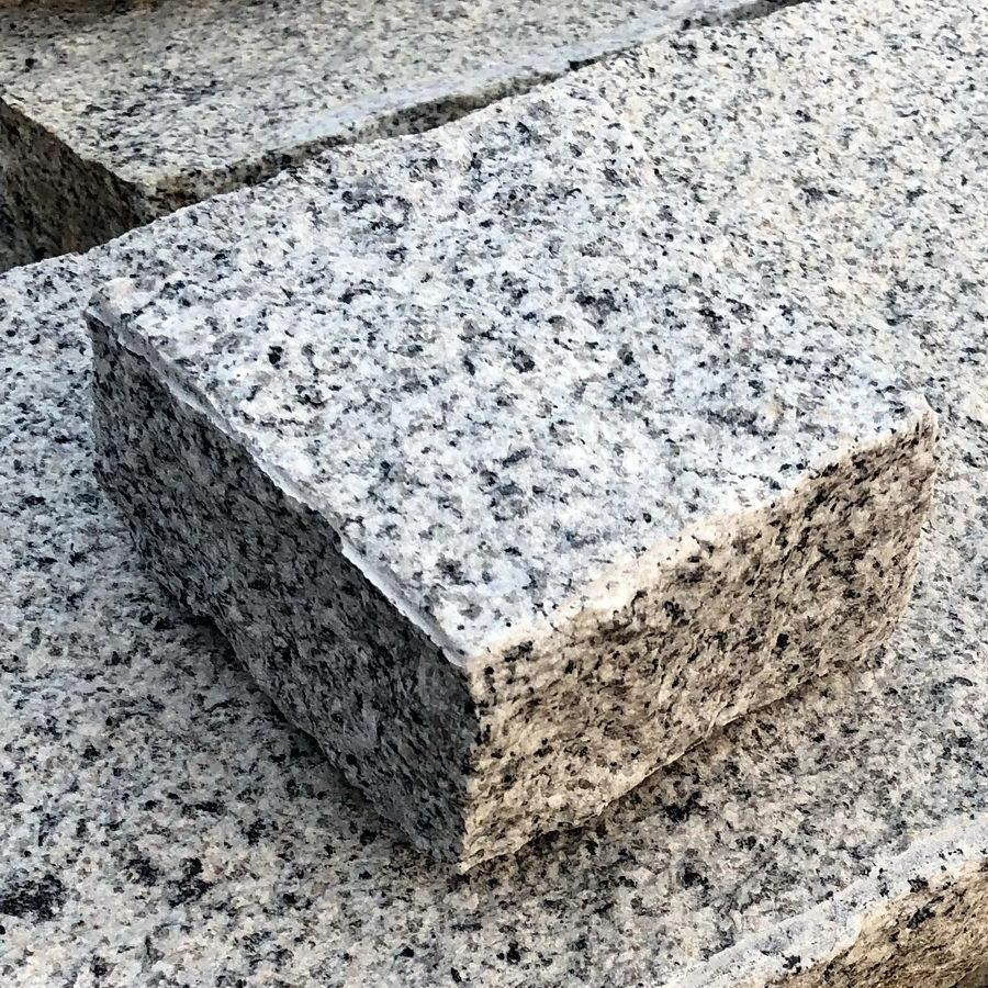 silver grey granite setts 100 x 100 x 50