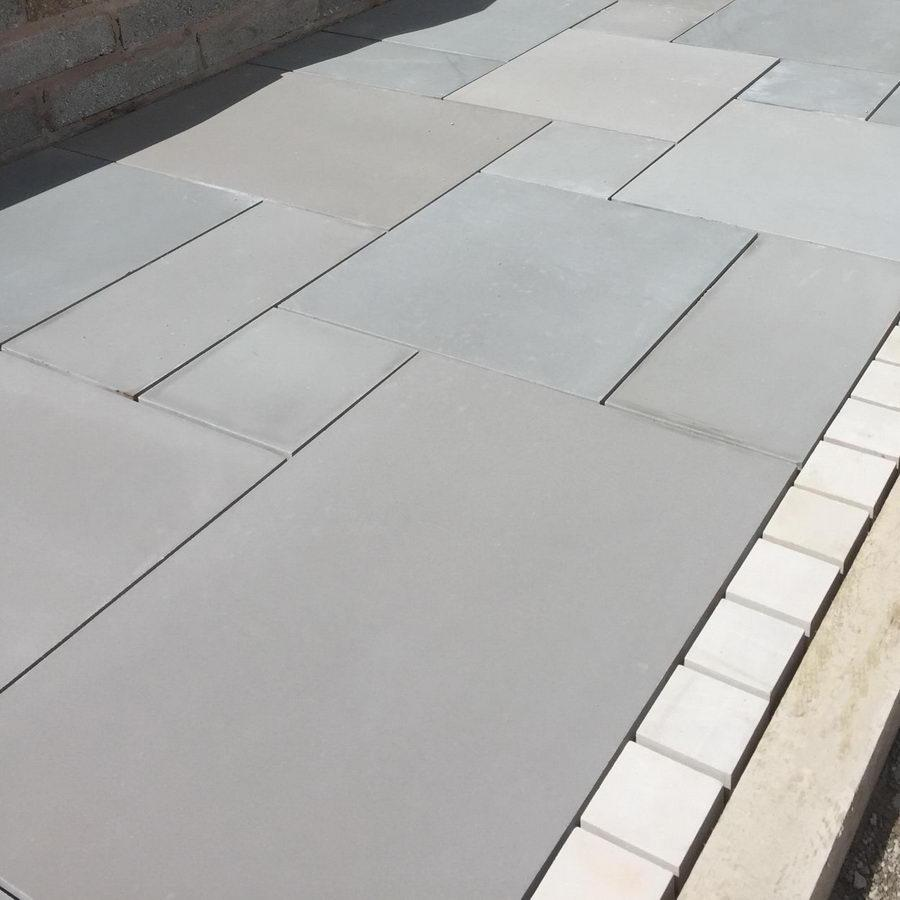 smooth sandstone paving Kandla grey