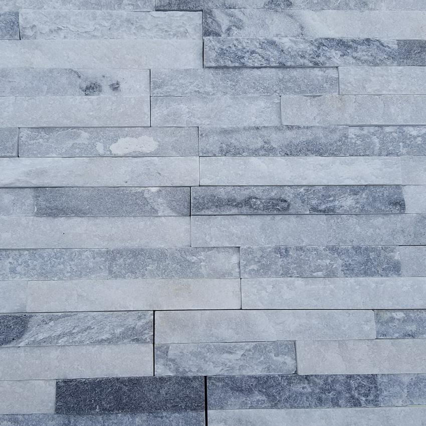 white grey sparkle stone cladding