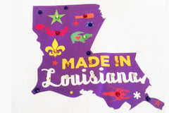 Made In Louisiana-State Shape