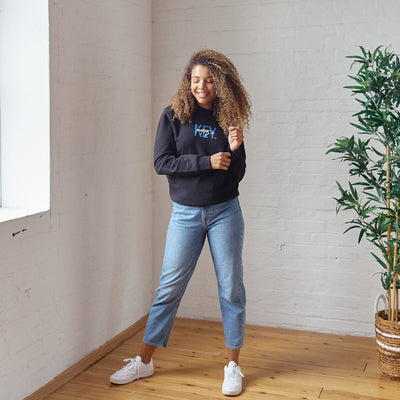 Unisex Organic Cotton Sweatshirt - Positive is Key - PositiveOutlook