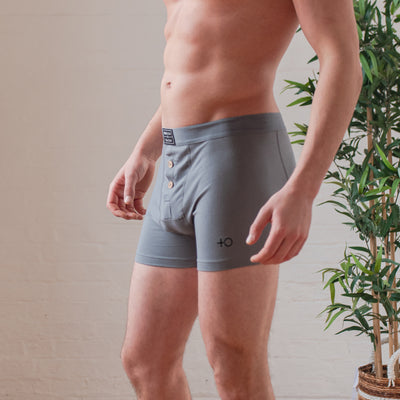 Bamboo Boxer Shorts - Grey - PositiveOutlook