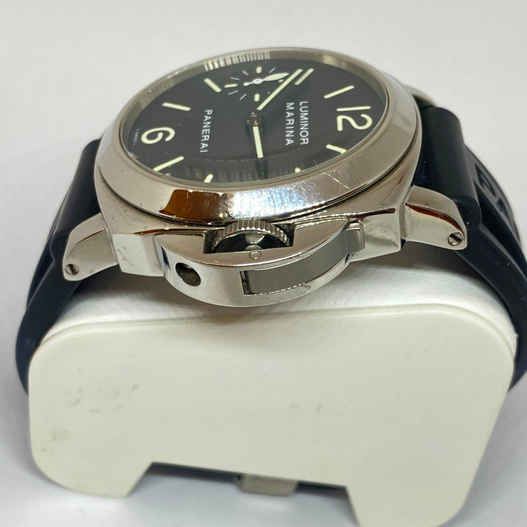 Pre-Owned Men's Panerai Luminor Marina Classic Black Rubber Watch 43mm PAM00001