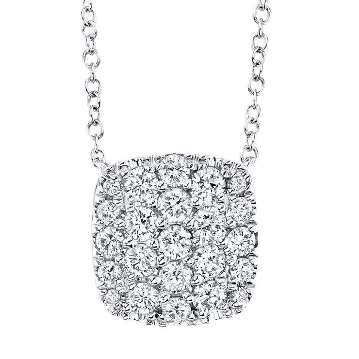 Mark Areias Jewelers Jewellery & Watches 0.53CT 14K WHITE GOLD CUSHION DIAMOND PAVE NECKLACE
