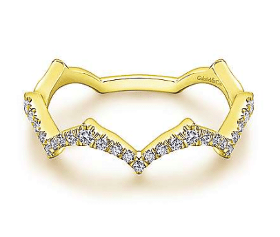 Mark Areias Jewelers Jewellery & Watches 14K Yellow Gold Scalloped Diamond Ring