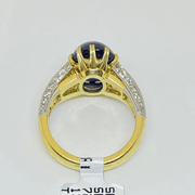 Mark Areias Jewelers Jewellery & Watches Custom Handmade Natural Sapphire and Diamond Ring 18 Karat 10.26 Carat