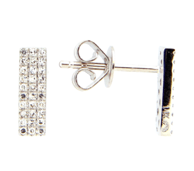 Mark Areias Jewelers Jewellery & Watches Diamond bar stud earrings .13CTW