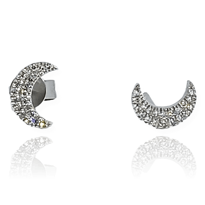 Mark Areias Jewelers Jewellery & Watches Diamond Moon Stud Earring .10CTW