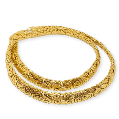 "Mark Areias Jewelers Jewellery & Watches Estate Byzantine Chain Necklace 14K Yellow 24"" 10mm 59 Grams!"