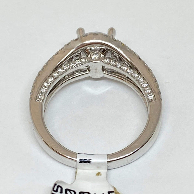 Mark Areias Jewelers Jewellery & Watches Fana Round Diamond Pave Engagement Semi Mounting Ring 14KW 1.41CTW