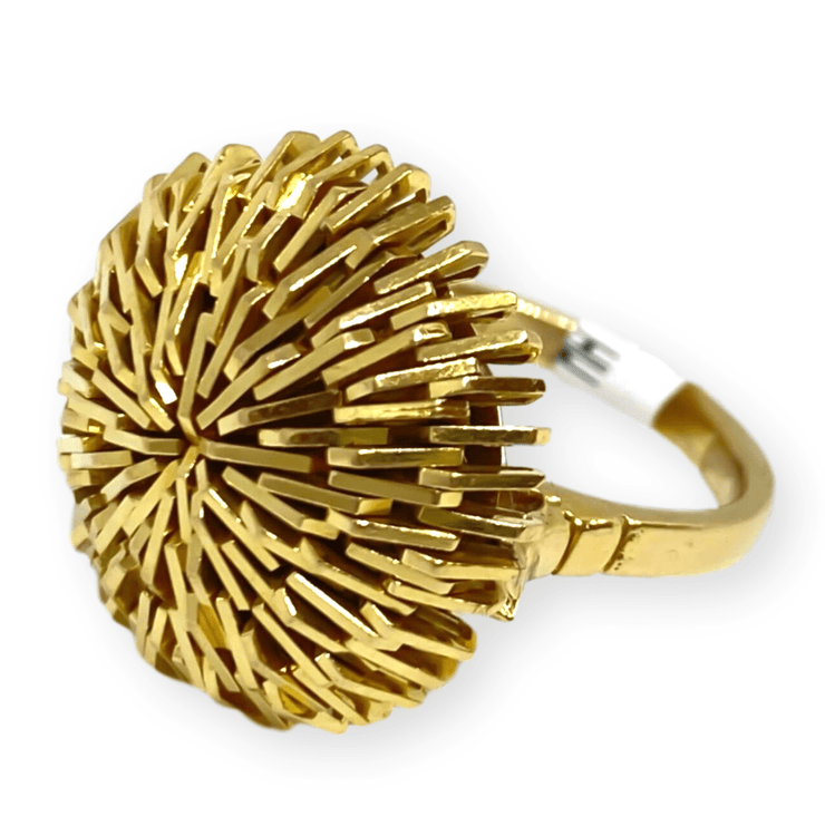 Mark Areias Jewelers Jewellery & Watches Lady's Estate Fashion Burst Faceted Ring 18K Yellow Gold Sz 4.75 8.30 grams