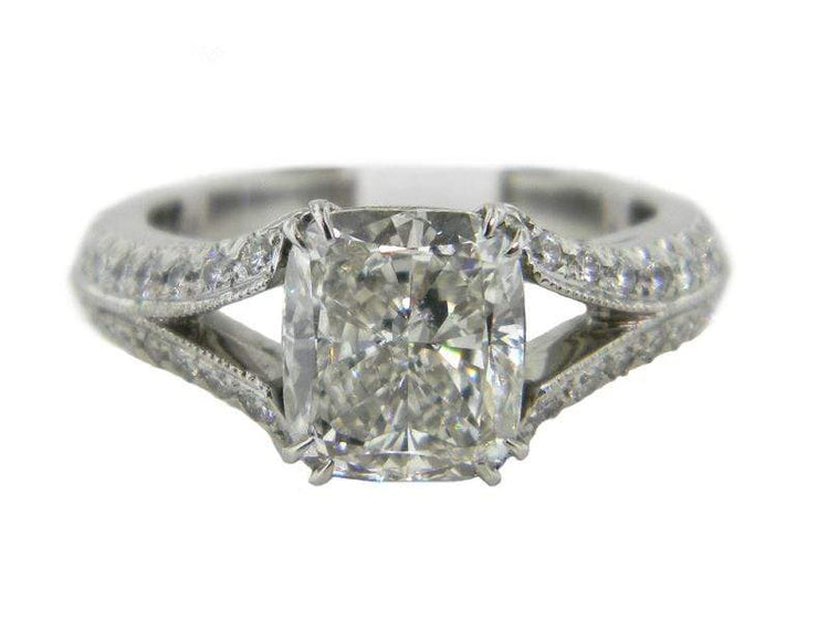 Mark Areias Jewelers Jewellery & Watches Mark Areias Jewelers Handmade Cushion Cut Diamond Engagement Ring 2.01 CT