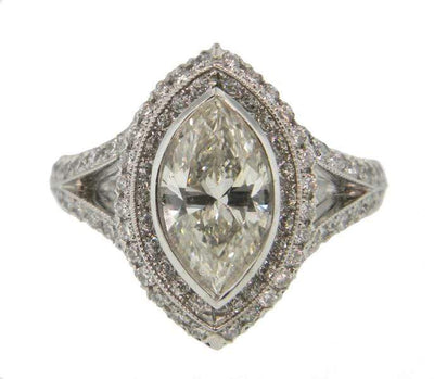 Mark Areias Jewelers Jewellery & Watches Mark Areias Jewelers Handmade Marquise Diamond Engagement Ring 1.73 CT