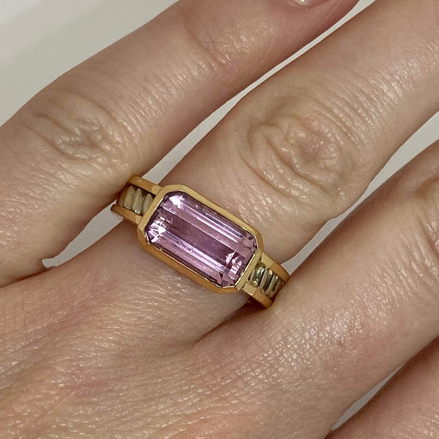Mark Areias Jewelers Jewellery & Watches Mark Areias Jewelers Imperial Pink Topaz Ring Handmade in 14K Rose & White Gold