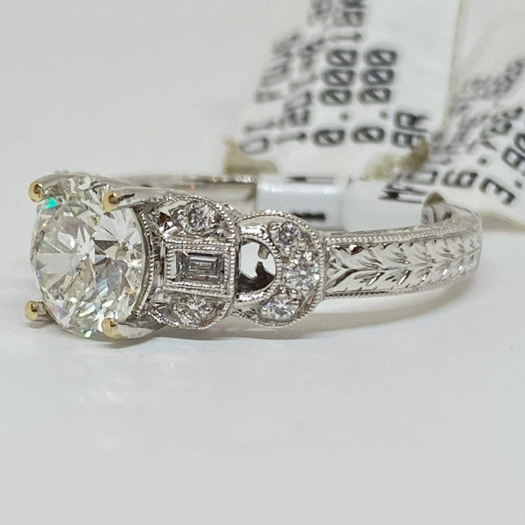 Mark Areias Jewelers Jewellery & Watches Old European Cut Diamond Antique Style Engagement Wedding Ring 1.22CT 18KW
