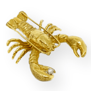 Mark Areias Jewelers Jewellery & Watches Pampillonia Lobster Brooch Pin with Diamond 18K Yellow Gold .05ct