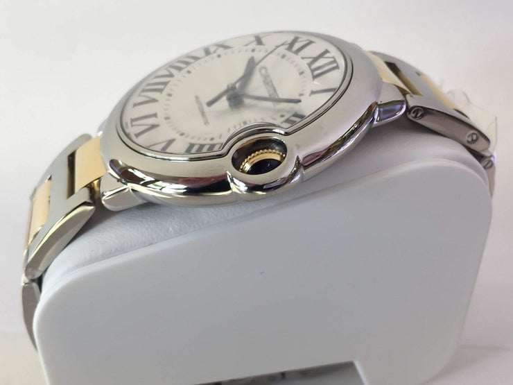 Mark Areias Jewelers Jewellery & Watches Pre-Owned Cartier Ballon Bleu Stainless Steel & 18K Yellow Gold on Bracelet Automatic 42mm
