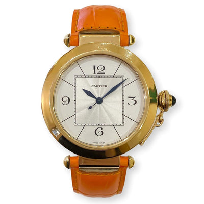 Mark Areias Jewelers Jewellery & Watches Pre-Owned Cartier Large Pasha Automatic 18 Karat Yellow Gold Watch