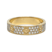 Mark Areias Jewelers Jewellery & Watches Pre-Owned Cartier Love Diamond Screw Band Ring .31CTW 18KY 59 8.75 Box/Papers