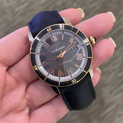 Mark Areias Jewelers Jewellery & Watches Pre-Owned Cartier Men's Ronde Croisiere Automatic Rose Gold Gray Dial 42mm Watch W2RN0005