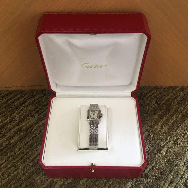 Mark Areias Jewelers Jewellery & Watches Pre-Owned Cartier Small Demoiselle Stainless Steel Quartz Bracelet Watch 20MM W25064Z5