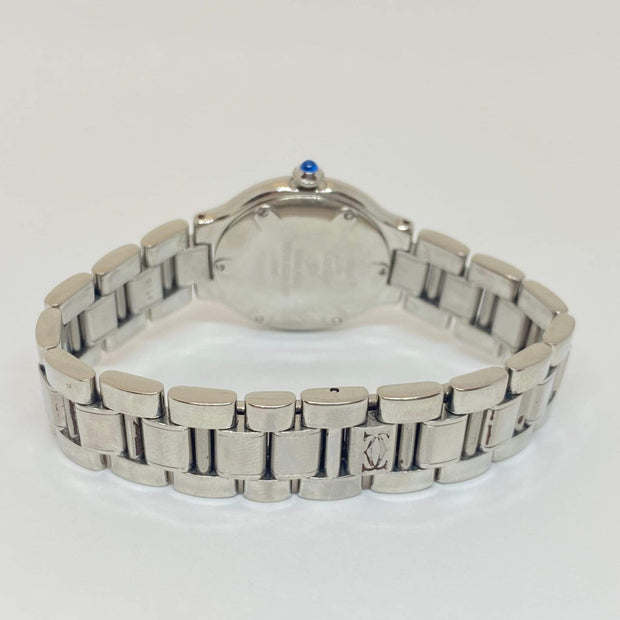 Mark Areias Jewelers Jewellery & Watches Pre-Owned Cartier Small Lady's Must 21 Stainless Steel Bracelet Watch Quartz 28mm