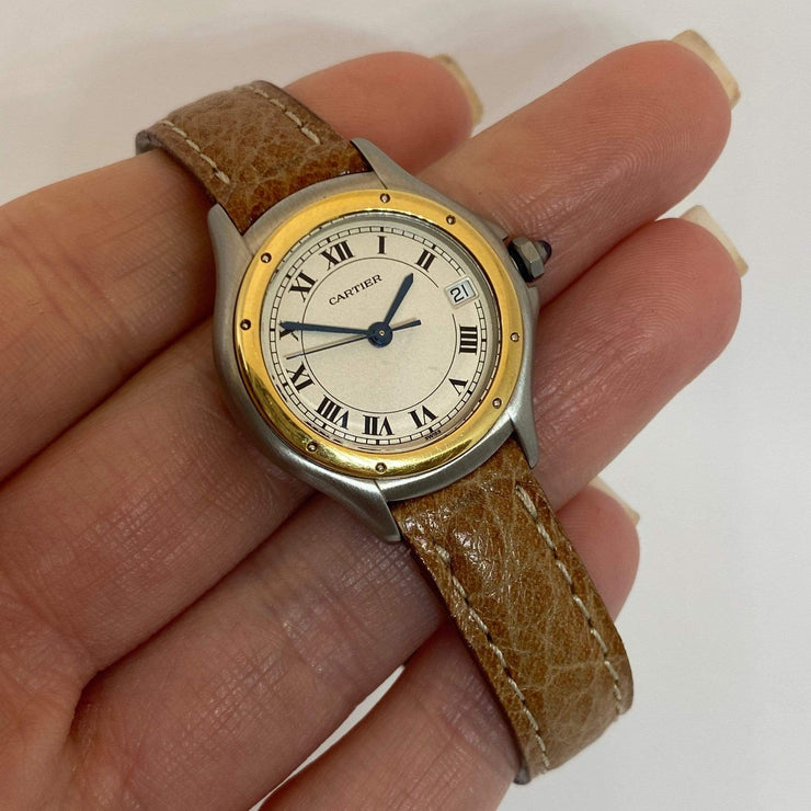 Mark Areias Jewelers Jewellery & Watches Pre-Owned Cartier Small Lady's Round Cougar Steel & 18K Yellow Gold Quartz 27mm
