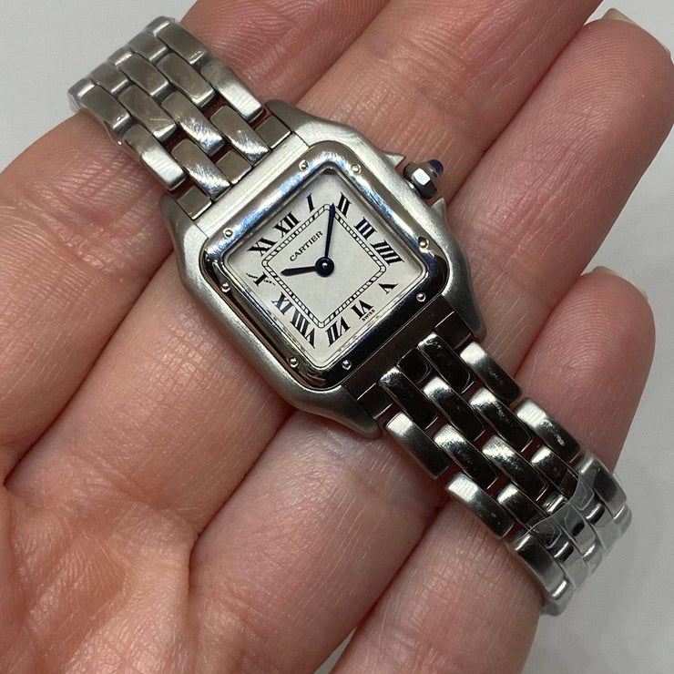 "Mark Areias Jewelers Jewellery & Watches Pre-Owned Cartier Small Panthere Watch All Stainless Steel Quartz 7.5"" 23mm"