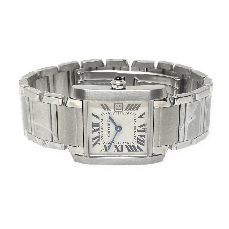 Mark Areias Jewelers Jewellery & Watches Pre-Owned Cartier Tank Francaise Mid Size Steel Quartz Watch W51011Q3 25mm