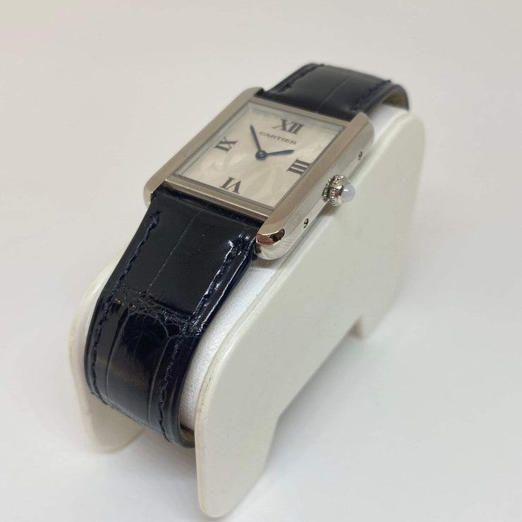 Mark Areias Jewelers Jewellery & Watches Pre-Owned Exclusive Boutique Cartier Small Tank Solo Logo Dial Steel Black Strap Watch