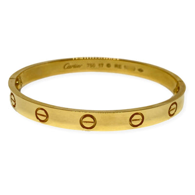 Mark Areias Jewelers Jewellery & Watches Pre-Owned Lady's Cartier Love Bangle Bracelet 18K Yellow Gold #17 B6035517
