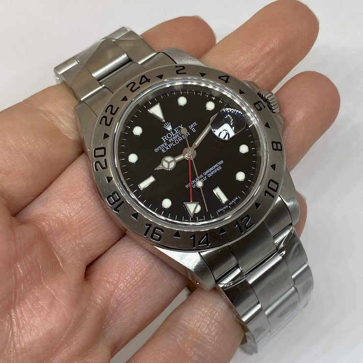 Mark Areias Jewelers Jewellery & Watches Pre-Owned Rolex Explorer II Black Dial Automatic Steel Oyster Bracelet 40mm 16570